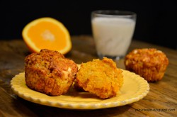 Muffinki marchewkowe z pomarańczą