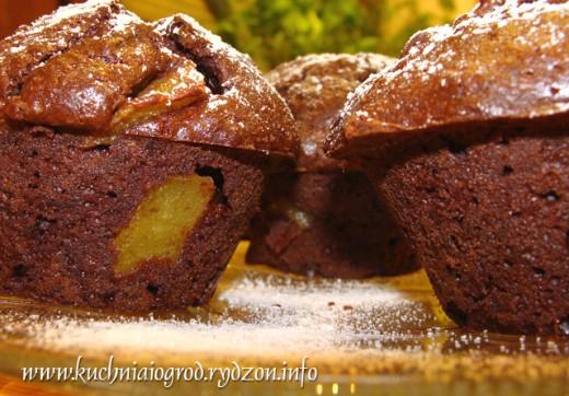 muffiny z gruszką
