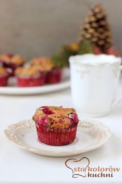 piernikowe muffiny z żurawiną