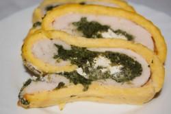Rolada omletowa ze szpinakiem