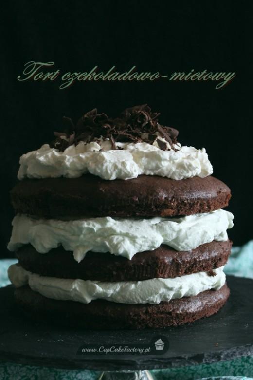 tort czekoladowo miętowy
