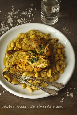 Chicken Kedra with almonds