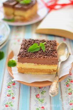 Ciasto 3 bit z kakaową pianką