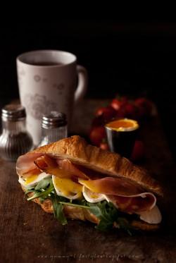 Croissant wytrawny – wersja
