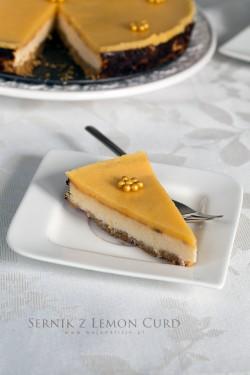 Cytrynowy sernik z lemon curd | Moja Delicja