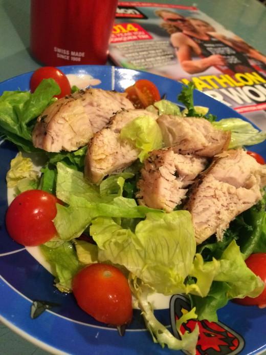 Motywacja, sałata z pieczonym indykiem i dieta TRI