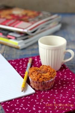 muffiny dyniowe z czekoladą