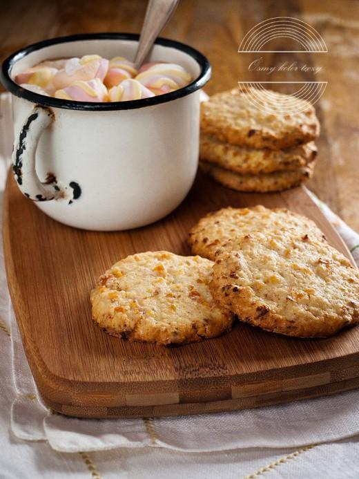 Owsiane ciasteczka amaretto z morelami