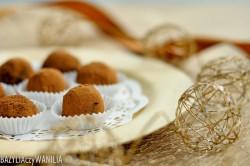 Trufle z ciemnej czekolady z migdałami