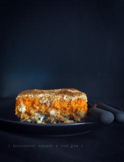 Zapiekanka z dorszem i dynią piżmową