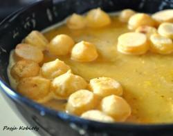 Zupa z soczewicy z groszkiem ptysiowym