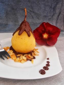 Aromatyczne gruszki w czekoladzie
