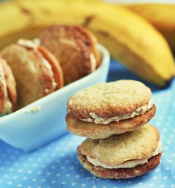 ciasteczka bananowe z masłem orzechowym