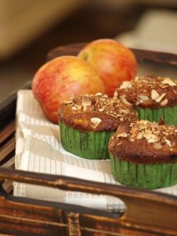 esienne muffiny z posypką migdałową