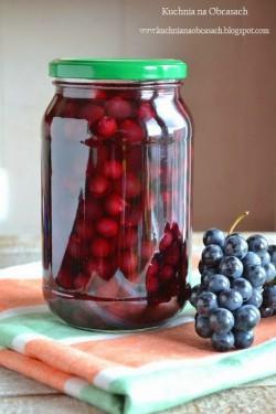 Kompot z winogron ogrodowych na zimę