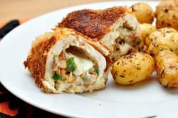 Kurczak nadziewany kurkami i mozzarellą