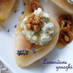 lawendowe gruszki z serowym farszem