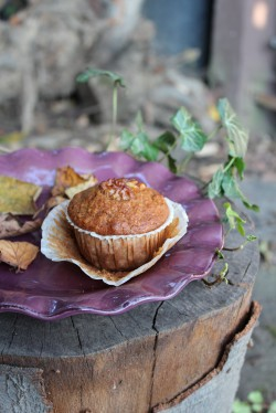 Muffiny razowe z dynią i orzechami włoskimi