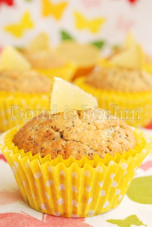 Cytrynowe muffinki z makiem