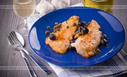 Filety rybne duszone w winie