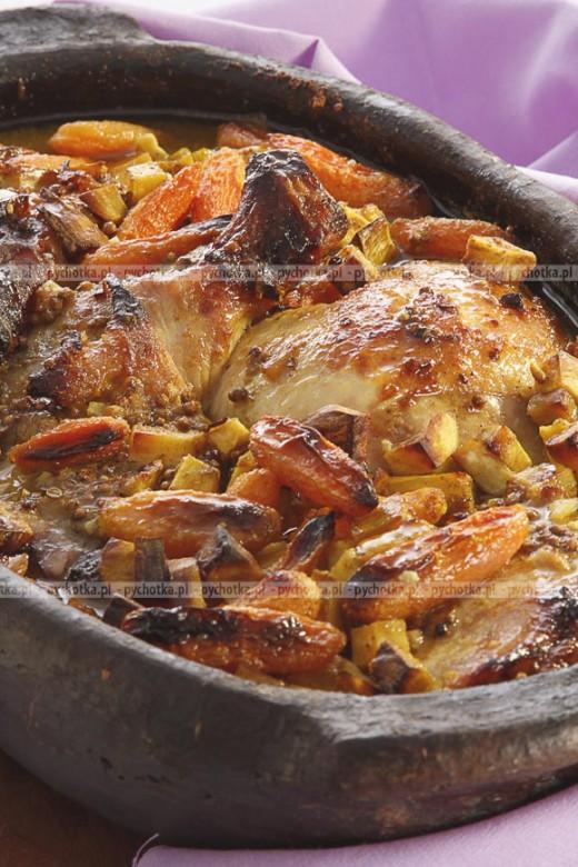 Kurczak duszony z warzywami