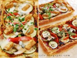 Oszukana pizza na cieście francuskim