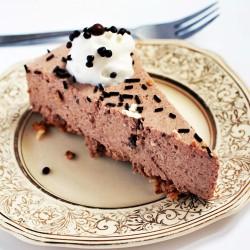 sernik florentyński czekoladowy na spodzie z płatków