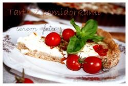 Tarta z pomidorkami i serem feta