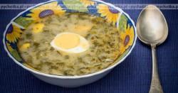 Teresy Zupa szczawiowa z jajkami