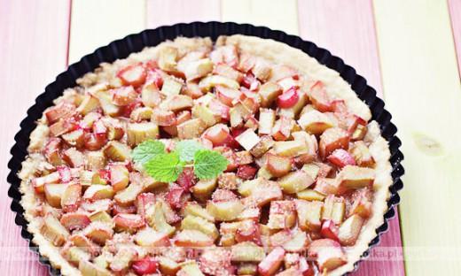 Wiosenne ciasto z rabarbarem