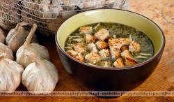 Zupa szpinakowa.