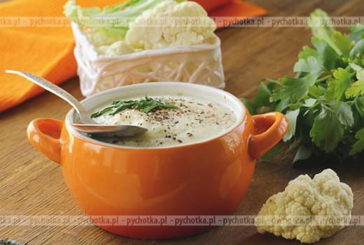 """Zupa z kalafiorów """"puree"""