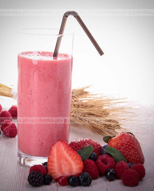 Napój mleczno owocowy