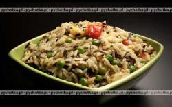 Ryż z groszkiem i migdałami