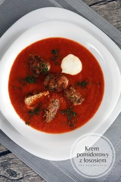 Pomidorowy krem z pulpetami z łososia | Moja DelicjaMoja Delicja