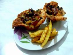 """Świat Smaku: """"Kurczakowe"""" muffinki nadziewane pieczarkami"""