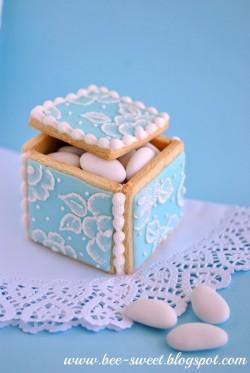Eleganckie ciasteczka- pudełeczka