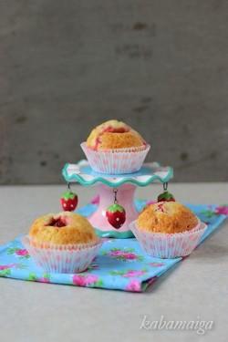 Muffiny z truskawką