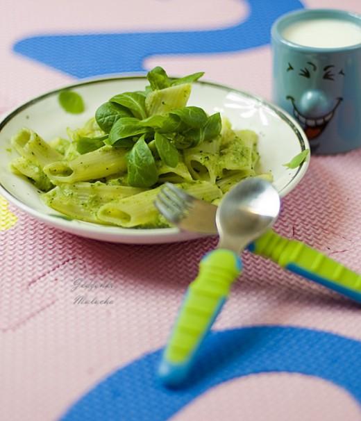 penne z brokułowym sosem