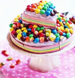 tort czekoladowy tęczowy m