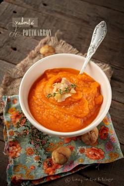 Aksamitny krem – zupa z dyni z kasztanami