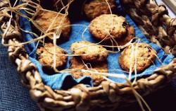 Ciasteczka z żurawiną i migdałami