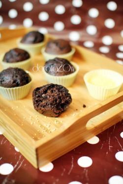 muffinki kakaowe z kaszą jaglaną