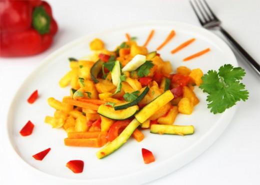 Tajskie ziemniaki stir-fry