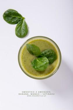 Green smoothie – koktajl z awokado, banana, mango i szpinaku | Moja Delicja – Przepisy kulinarne