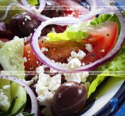 Sałatka z twarogu i pomidorów