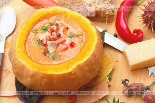 Zupa z dyni z pulpetami