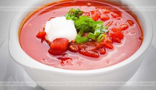 Chłodnik pomidorowy na kefirze