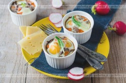 Piure ziemniaczane zapieczone z jajkiem