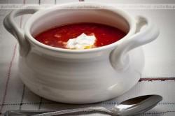 Zupa pomidorowa z pieczarkami